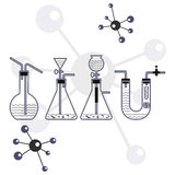 Chemical background. Ways of produing a gas Stock Photo