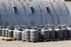 Chemical barrels royalty free stock photos