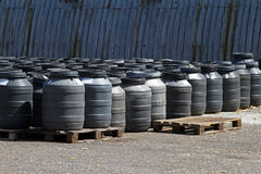 Chemical barrels Stock Image