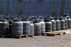 Chemical barrels stock image