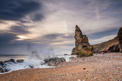 Chemical Beach Crashing Waves Royalty Free Stock Image