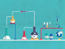 Chemical beaker and flask for Science. Royalty Free Stock Image