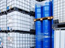 chemical behållare Arkivbild