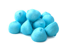 Chemical blue marshmallows Stock Image