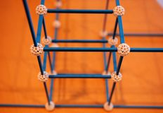 Chemical bonding structures. In the laboratory stock images