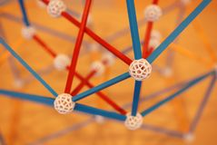 Chemical bonding structures. In the laboratory royalty free stock image
