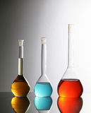 Chemical bottles Royalty Free Stock Images