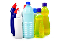 Chemical bottles Stock Image