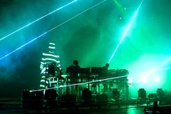 The Chemical Brothers electronic dance music band live music performance Royalty Free Stock Image