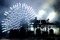 The Chemical Brothers (electronic dance music band) live music performance at Sonar Festival Royalty Free Stock Photos