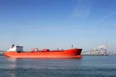 Chemical Carrier. In Port of Rotterdam Stock Image