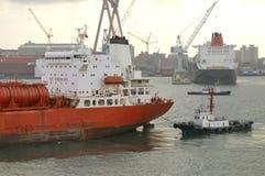 chemical chevical industritankfartyg royaltyfria bilder