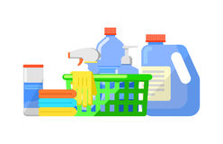 Chemical cleaning products isolated vector icon Stock Image
