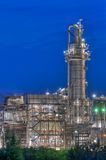 Chemical Complex. Large chemical production facility with a photogenic tower Royalty Free Stock Photography