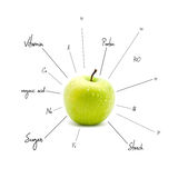 The chemical composition of apple Royalty Free Stock Photography