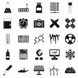 Chemical composition icons set, simple style Royalty Free Stock Image