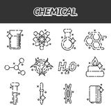 Chemical concept icons Stock Photography