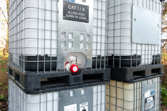 Chemical containers Royalty Free Stock Photography