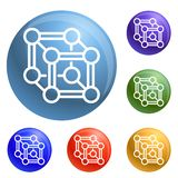 Chemical cube icons set vector stock illustration