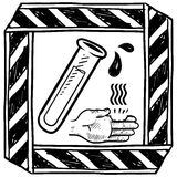 Chemical danger warning vector Stock Image