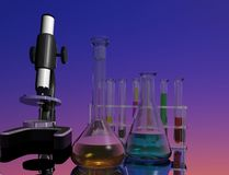 Chemical devices Royalty Free Stock Image