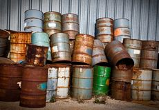 Chemical Drums Royalty Free Stock Images