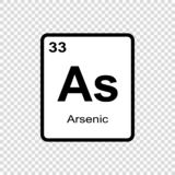 chemical element Arsenic stock illustration