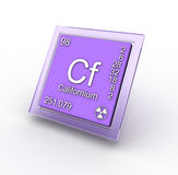 Chemical element Californium Stock Photography