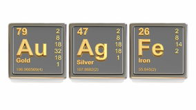 Chemical element. stock footage