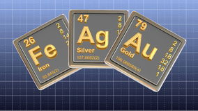 Chemical element. stock video footage