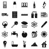 Chemical element icons set, simple style Stock Photos
