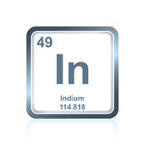 Chemical element indium from the Periodic Table Royalty Free Stock Photos