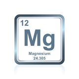 Chemical element magnesium from the Periodic Table Stock Photo