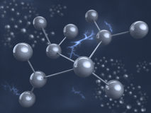 Chemical element. Molecule. Stock Photography