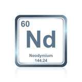 Neodymium symbol on modern glass and steel icon stock illustration chemical element neodymium from the periodic table royalty free stock image urtaz Gallery