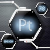 Chemical element platinum Stock Photography