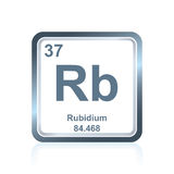 Chemical element rubidium from the Periodic Table Royalty Free Stock Photography