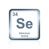 Chemical element selenium from the Periodic Table Stock Image