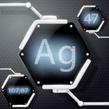Chemical element silver Stock Photography