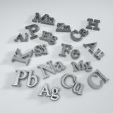 Chemical element symbol. S isolate on white background Royalty Free Stock Image
