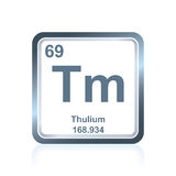Chemical element thulium from the Periodic Table Royalty Free Stock Images