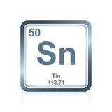 Chemical element tin from the Periodic Table Royalty Free Stock Images