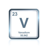 Chemical element vanadium from the Periodic Table Stock Photos
