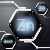 Chemical element zinc Stock Images