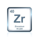 Chemical element zirconium from the Periodic Table Royalty Free Stock Images