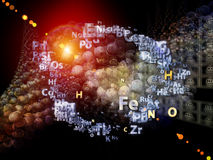 Chemical Elements Backdrop Royalty Free Stock Photography