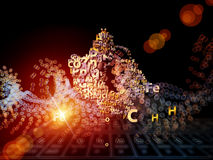 Chemical Elements Backdrop Royalty Free Stock Photos