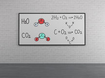 Chemical elements H2SO4, HNO3 Royalty Free Stock Image