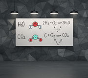 Chemical elements H2SO4, HNO3 Stock Photos
