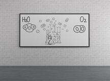 Chemical elements H2O and O2 Stock Images